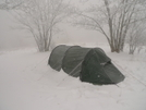A New Year Blizzard Atop Gorak Hill by Tipi Walter in Tent camping