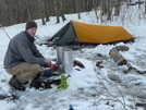 Chris Phillips Camping In The Snow