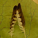 Cohutta Trail Map With Hawk Feathers by Tipi Walter in Other