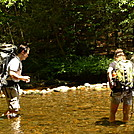 Backpackers In The Conasauga River