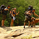 Backpackers At Jacks River Falls