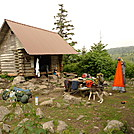 Thomas Knob Shelter Is Bustling by Tipi Walter in Virginia & West Virginia Shelters