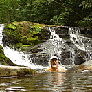 Tipi Takes A Flea Bath at Wildcat Falls by Tipi Walter in Views in North Carolina & Tennessee