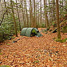 Hobo Camp On The Upper Sycamore by Tipi Walter in Tent camping
