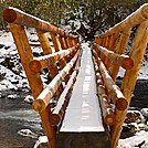 The New Snowbird Creek Footbridge by Tipi Walter in Views in North Carolina & Tennessee