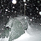 Snowstorm On The Mitchell Lick Trail by Tipi Walter in Tent camping