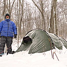 Morning Dawns Cold On Mitchell Lick Trail by Tipi Walter in Tent camping