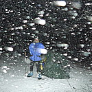 Rain Turns To Snow At Cold Spring Gap Citico by Tipi Walter in Tent camping