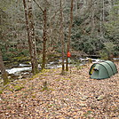 A February Camp On Citico Creek
