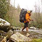Crossing Slickrock Creek On The BMT