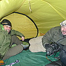 Patman And Gonzan Share My Tent In A Cold 5,300 Foot Open Bald Windstorm by Tipi Walter in Tent camping
