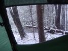 Snow View From Tent/mar08 by Tipi Walter in Tent camping