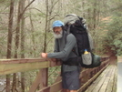 Crossing The North Fork Footbridge by Tipi Walter in Other Galleries