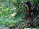 Tipi Hiking Out On Sycamore Creek Trail by Tipi Walter in Views in North Carolina & Tennessee