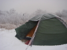 The Blizzard Hits 11/15/08 by Tipi Walter in Tent camping