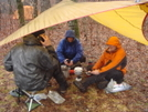 Sitting Out The Rain Under A Tarp/feb'09 by Tipi Walter in Tent camping
