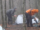 Setting Up Camp In Harsh Conditions/feb'09