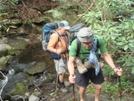 John And Bill Crossing Kirkland Creek by Tipi Walter in Thru - Hikers