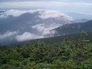 view from Franconia Ridge, mile 1804