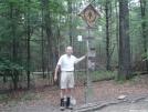 Early Bird at AT halfway marker - 6-10-07