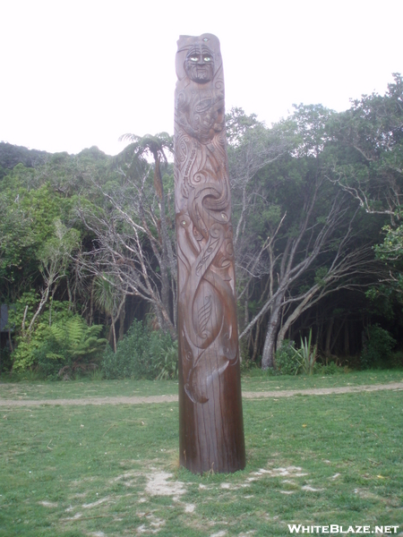 Maori Statue At Ship Cove