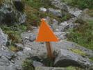 Trail Marker On Mt