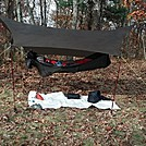 BC setup by scope in Hammock camping