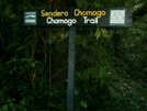 Chomogo Trail Sign by camojack in Special Points of Interest