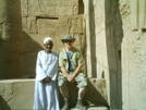 Jack And A Bedouin At The Karnak Temple In Luxor by camojack in Special Points of Interest