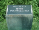 Fontana Dam Plaque by camojack in Trail & Blazes in North Carolina & Tennessee