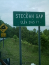 Stecoah Gap Sign