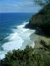 Kalalau Trail - Overlooking Hanakapi'ai Beach 2 by camojack in Special Points of Interest