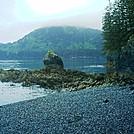 Spruce Island Alaska - hike to Ouzinkie, pebbly beach 2 by camojack in Special Points of Interest
