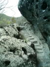 St. Bart's Hike - Steps Hewn Into Rock by camojack in Special Points of Interest