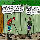 One leg by attroll in Boots McFarland cartoons