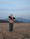 Max Patch with my puppy by auroram in Day Hikers