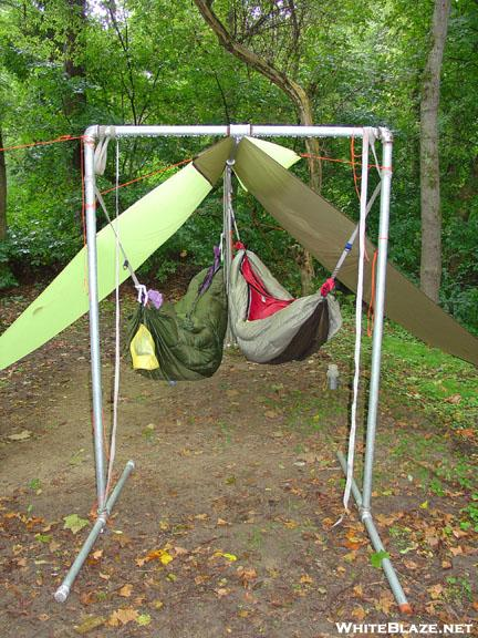 ed and karen speer u0027s homemade double hammock stand ed and karen speer u0027s homemade double hammock stand   whiteblaze      rh   whiteblaze