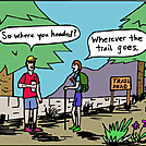 Trail Goes by attroll in Boots McFarland cartoons