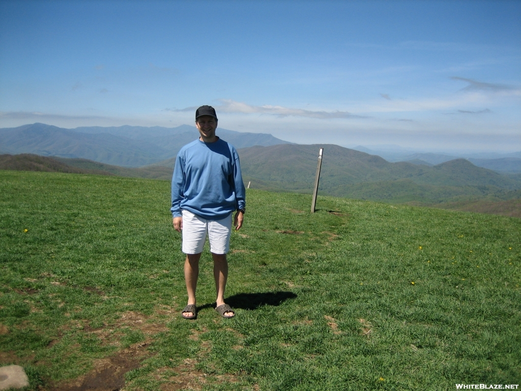 Swiss Roll on Max Patch, Smokies in Background