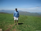 Swiss Roll on Max Patch, Smokies in Background by Swiss Roll in Section Hikers