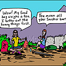 Food bag by attroll in Boots McFarland cartoons
