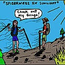 Spider fringe by attroll in Boots McFarland cartoons