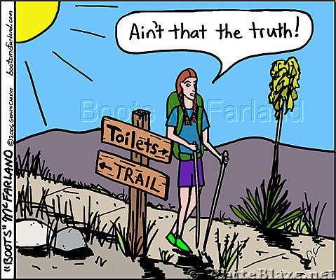 Toilets, trail