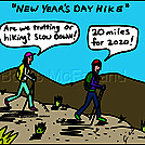 New years hike