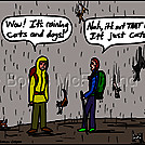 Raining cats by attroll in Boots McFarland cartoons