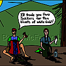 White gold by attroll in Boots McFarland cartoons