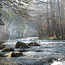 Little River at Elkmont Campground in Smokies