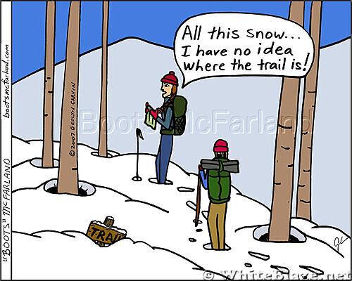 Trail snow