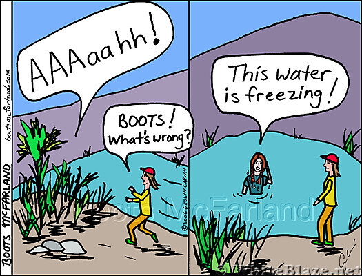 Freezing water