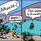 Freezing water by attroll in Boots McFarland cartoons